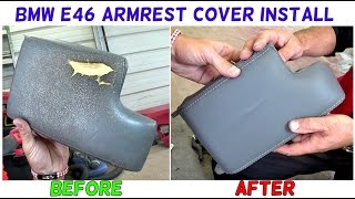 BMW E46 ARMREST COVER LID REMOVAL RECOVERING Cover Install