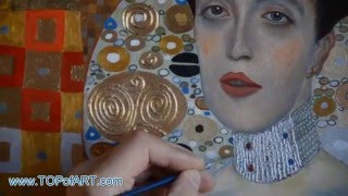 Klimt - Portrait of Adele Bloch-Bauer I   Art Reproduction Oil Painting