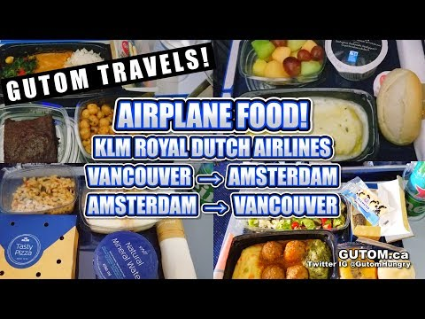 FLIGHT FOOD! KLM ROYAL DUTCH AIRLINES VANCOUVER TO AMSTERDAM #TRAVEL | Vancouver Food Guide Reviews