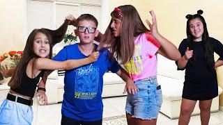 ¡La nueva colegiala le dio una lección a Eva y puso a sus amigas una contra la otra!