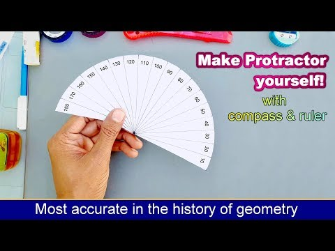 Diy protractor with compass and ruler