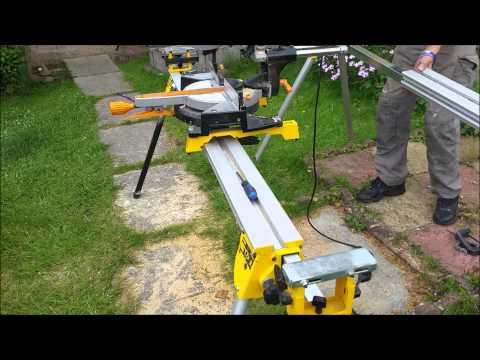 Tool Modification: Shortening The Dewalt DE7023 Portable Site Saw Stand.