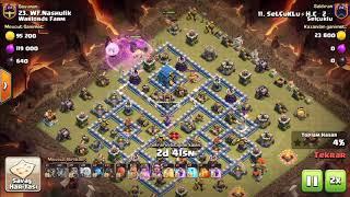 Selçuklu Vs Warlords Farm | Amazİng | Th12 | 3stars | Pro Queen-walk | Clash Of