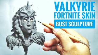 Sculpting Valkyrie Fortnite Skin Traditional Sculpting