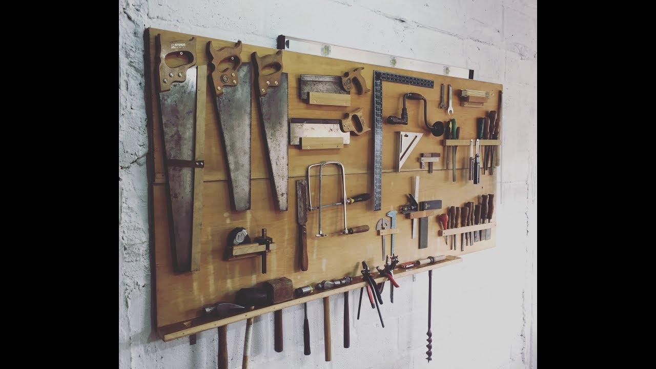 Tablero para organizar herramientas youtube for Casa para herramientas