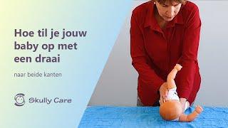Oefening: 'Hoe til je jouw baby op met een draai' bij een schedeldeformatie - Skully Care