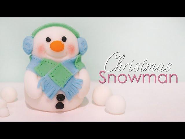 Christmas Snowman Cake Topper Tutorial