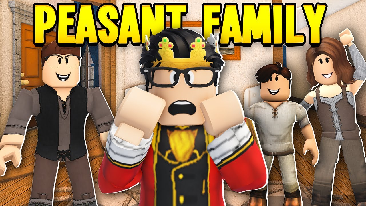 PEASANT FAMILY Adopted A SPOILED PRINCE! (Roblox Bloxburg)
