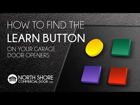 How To Find The Learn Button On Your Garage Door Operator Youtube