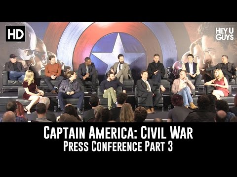 Captain America: Civil War Press Conference - Part 3