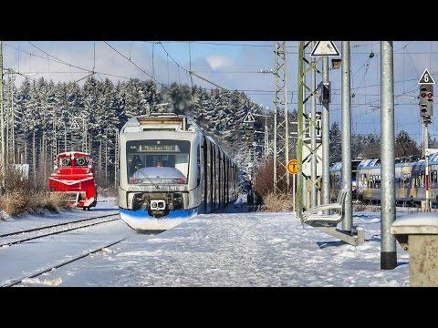 Coole Ausfahrt einer Bayerischen Oberlandbahn nach München