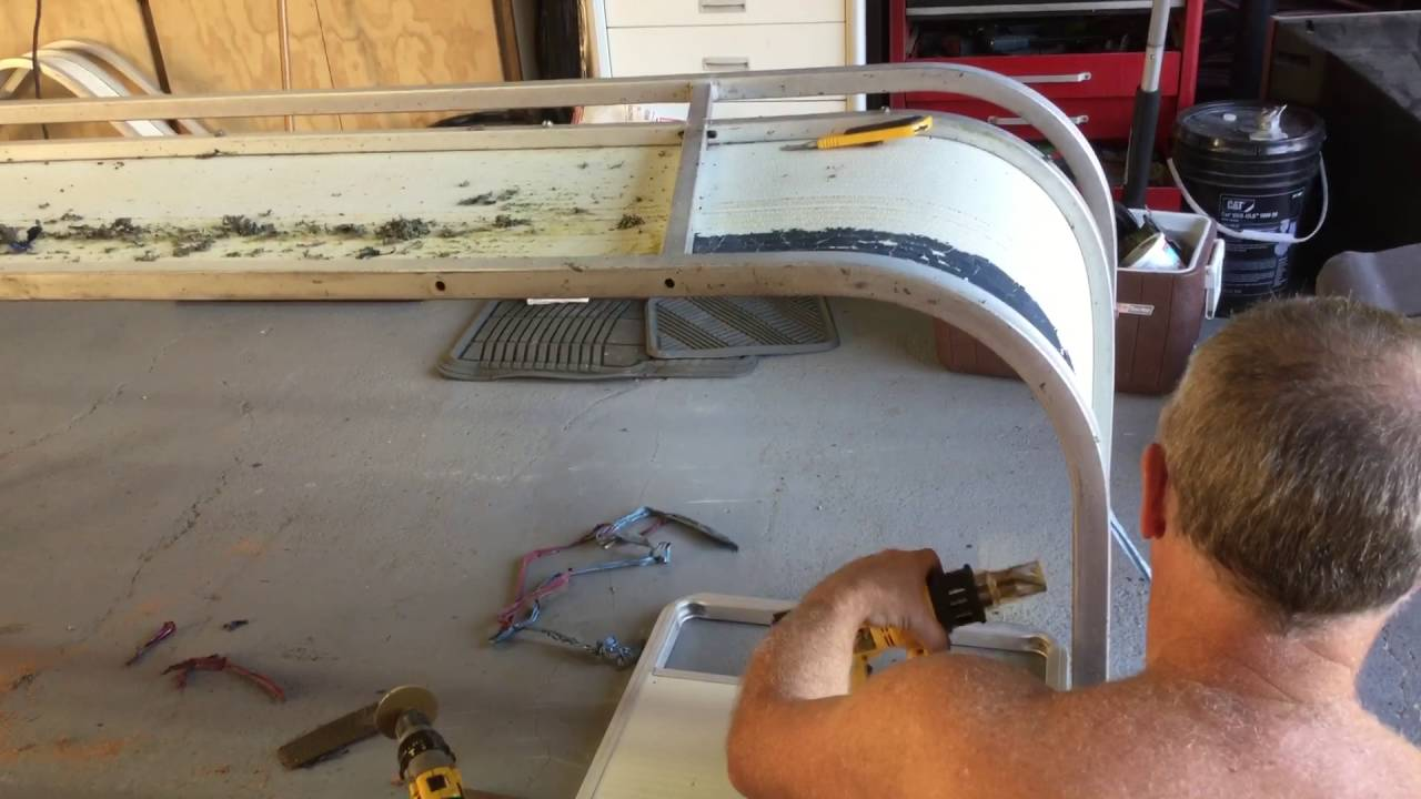 Stripe Removal From Pontoon Boat YouTube - Boat decals and stripes   easy removal