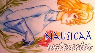 Nausicaä Watercolor Painting! [Process]
