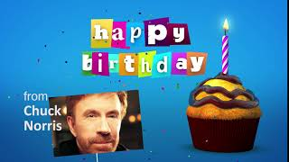 Birthday Wishes From Chuck Norris Funny Birthday Greetings Youtube