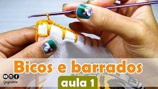Bicos de crochê simples, fácil e rápido para iniciantes | AULA 1 - JNY Crochê thumbnail