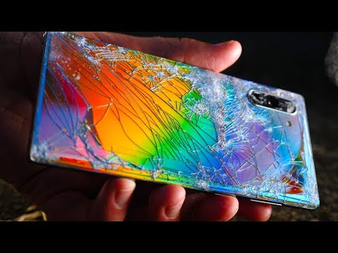 Galaxy Note 10 Drop Test! Shattering World's Most Beautiful Phone!