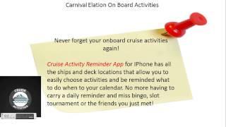 Carnival Elation On Board Activities App