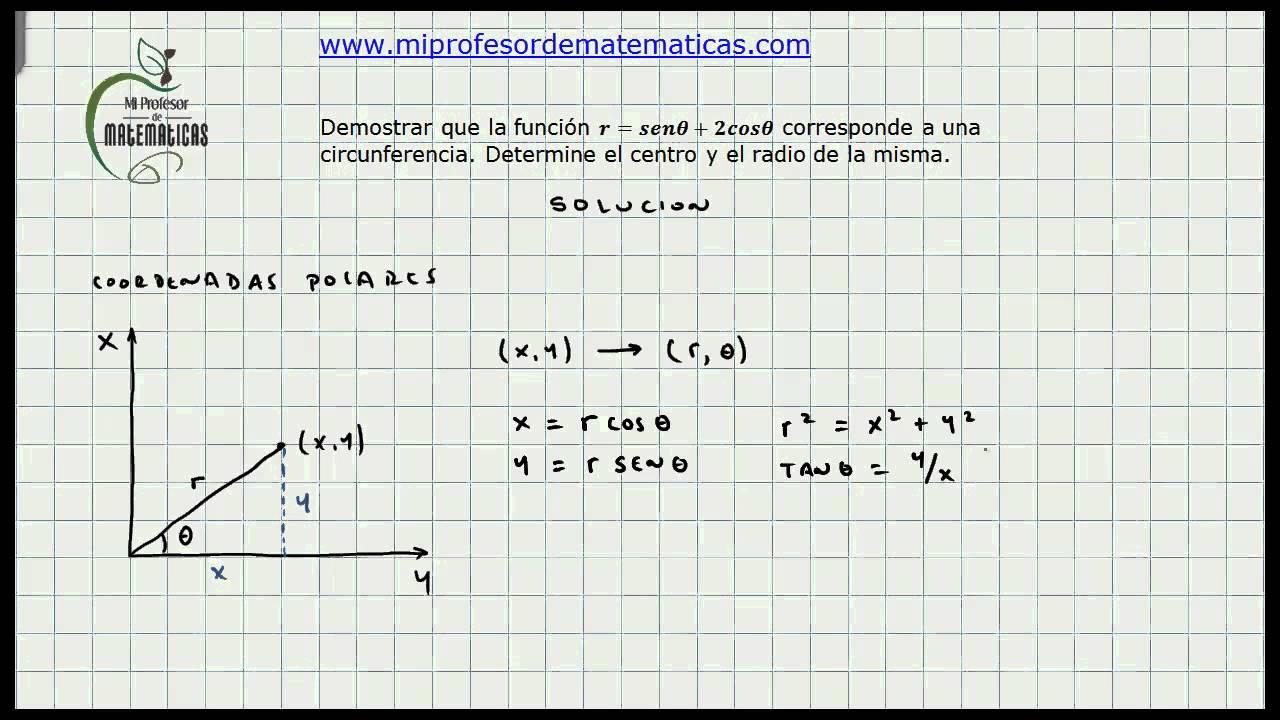 Ejercicio Aplicacion Coordenadas Polares - Calculo General - Mi ...
