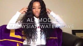 Ali Moda Hair  Malaysian water wave Soft thick bundles fast free shipping