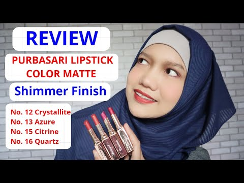 lipstik-purbasari-terbaru!-review-4-warna-purbasari-color-matte-shimmer-finish