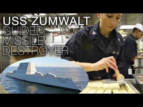 Life Aboard US Navy Stealth Destroyer USS Zumwalt