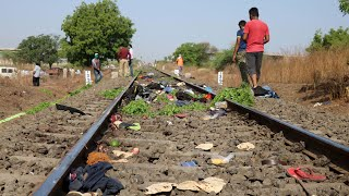 At least 15 dead after train runs over migrant workers