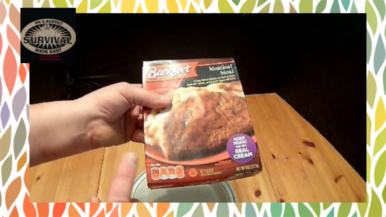 Banquet Meatloaf Meal Dollar Tree Food Reviews Youtube