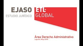 Presentación Área Derecho Administrativo. Congreso ETL Global Spain Logroño 2018