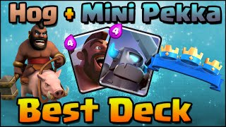 Clash Royale - Best Hog Rider + Mini Pekka Deck Combo Attack Strategy for Arena 4, 5, 6, 7