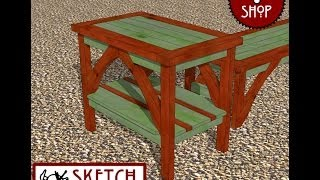 Chief's Shop Sketch Of The Day: Garden Bench Side Table