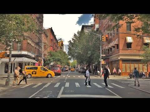 Driving Downtown - NYC's Greenwich Village 4K - New York USA