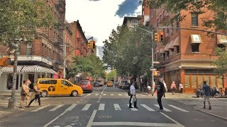 Driving Downtown - Greenwich Village 4K - New York City USA