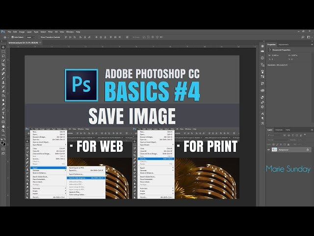 Adobe Photoshop CC #04 Save Image for Web and Print