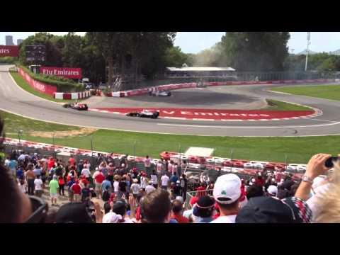 Felipe massa ,sergio perez  crash montreal 2014