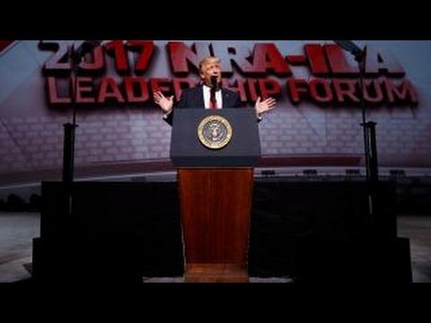 Did Trump's NRA speech send a message to Washington?