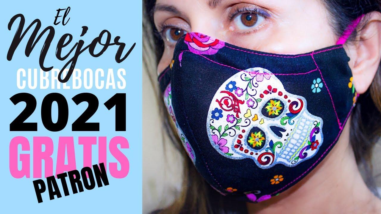 La MEJOR Mascarilla Tapabocas Ajustada con Filtro, Bolsillo y Soporte para Nariz   9 PATRONES GRATIS