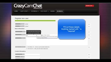 How to Register - CrazyCamChat