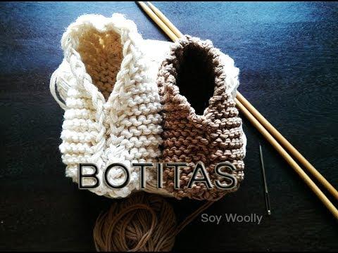 Patr n para tejer botitas patucos zapatitos escarpines - Como hacer calcetines de lana a dos agujas ...