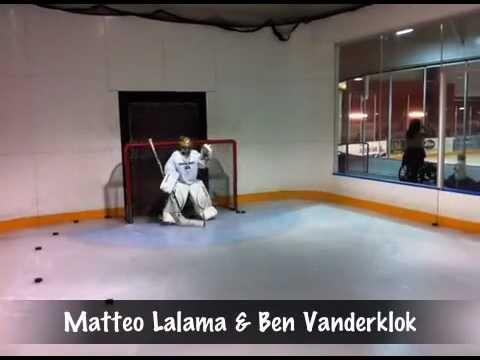 Nhl Goalie Drills 9 Yr Old Matteo Lalama Youtube