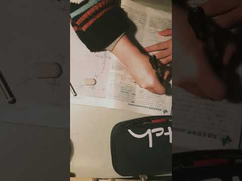 [Study with me]A Chinese girl with her vacation homework