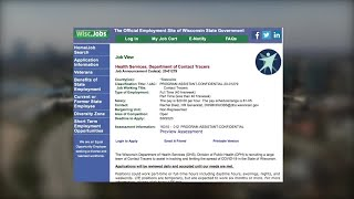 Wisconsin DHS hiring contact tracers to track the spread of COVID-19