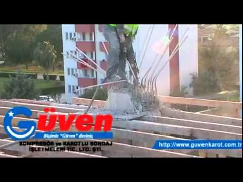 Adana Kompresör ile Beton Kırma 2 - www.guvenkarot.com.tr