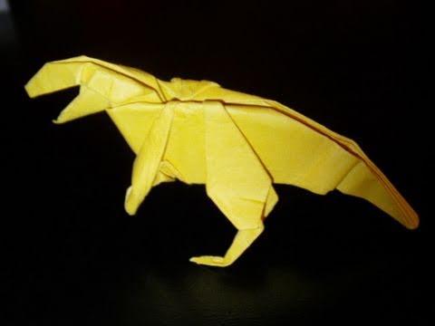 Papercraft origami dinosaur allosaurus