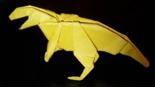 origami dinosaur allosaurus