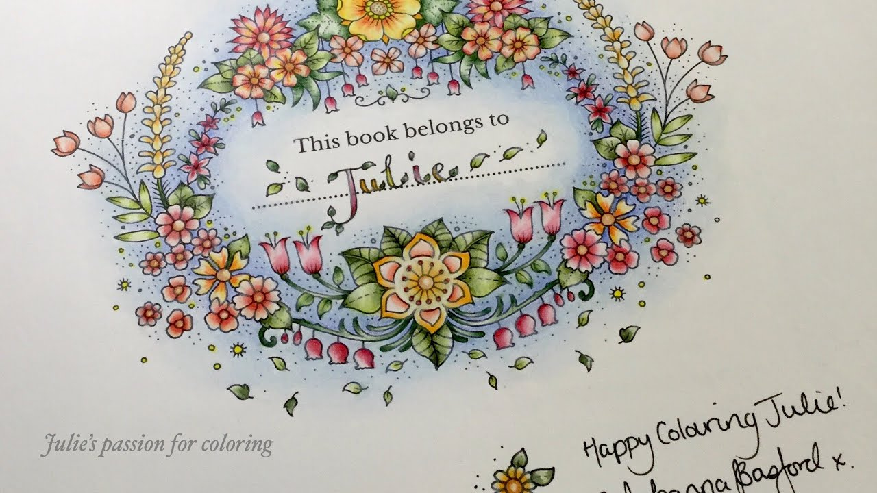 World Of Flowers By Johanna Basford Color Along Prismacolor
