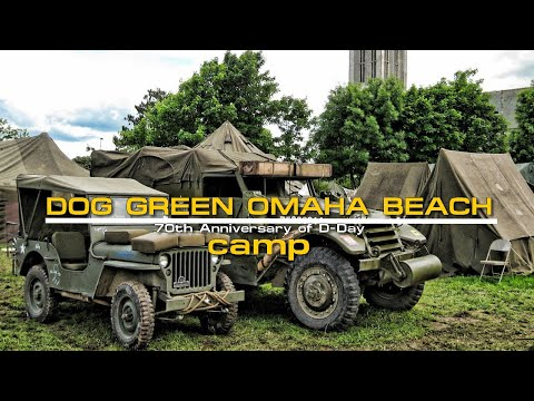 Dog Green Camp at Omaha beach Normandy 70th anniversary of D-Day