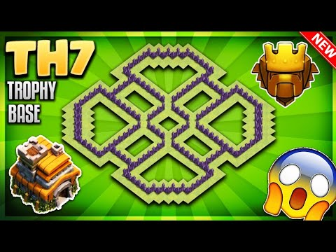 INSANE BEST TOWN HALL 7 (TH7) TROPHY BASE DESIGN/ANTI 3 STAR BASE WITH PROOF!!- Clash Of Clans