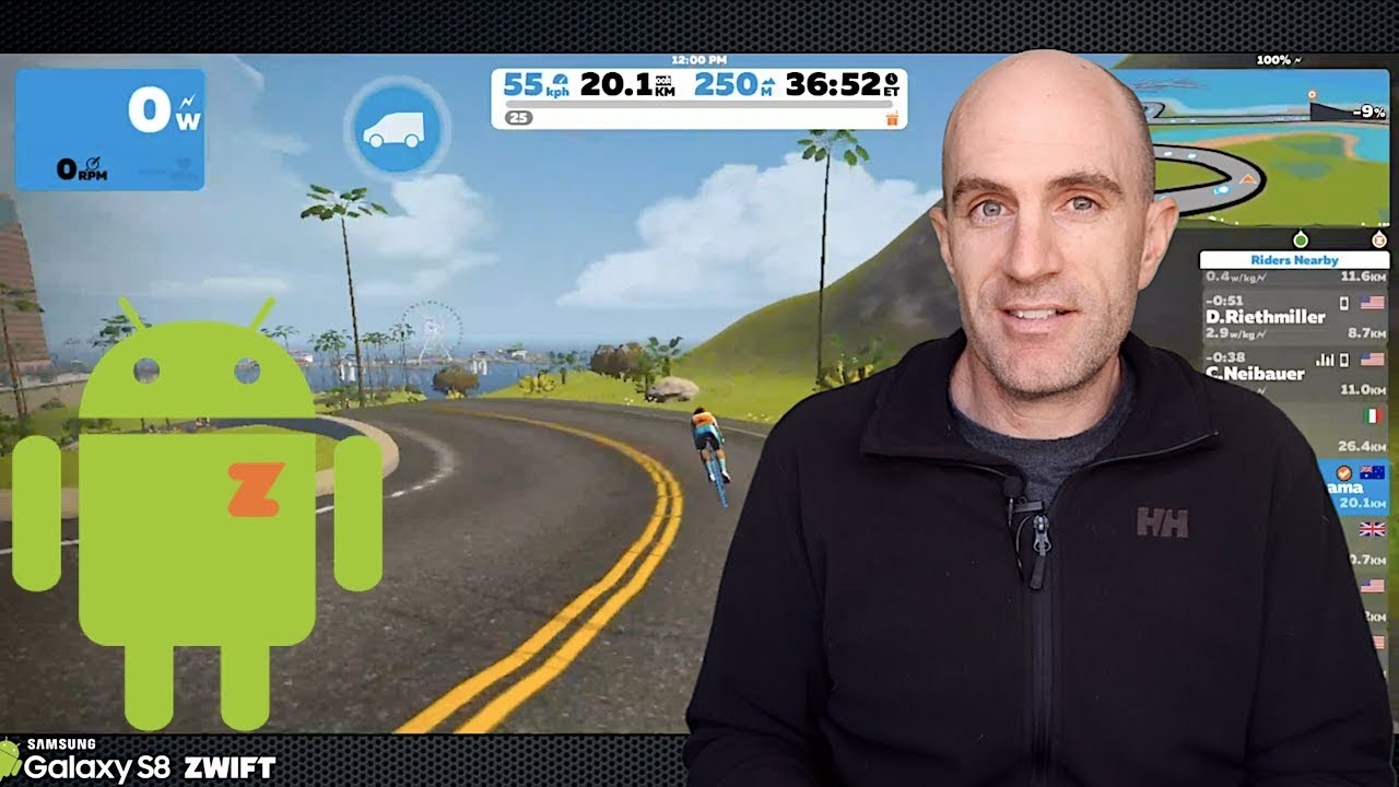Zwift Android // Hands-on in the Lama Lab // Tacx Neo