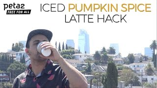 Iced Pumpkin Spice Latte Hack!
