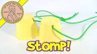 Romper Stompers Vintage 1970 Romper Room Walking Cups Stilts, Hasbro Toys